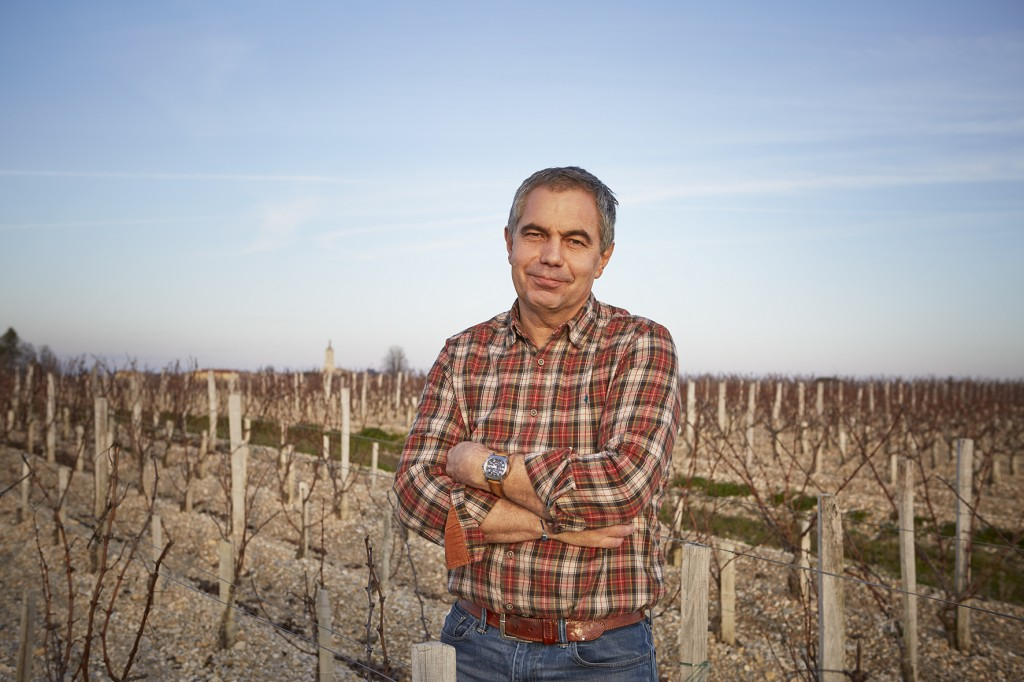 Luc Peyronnet in the vineyard